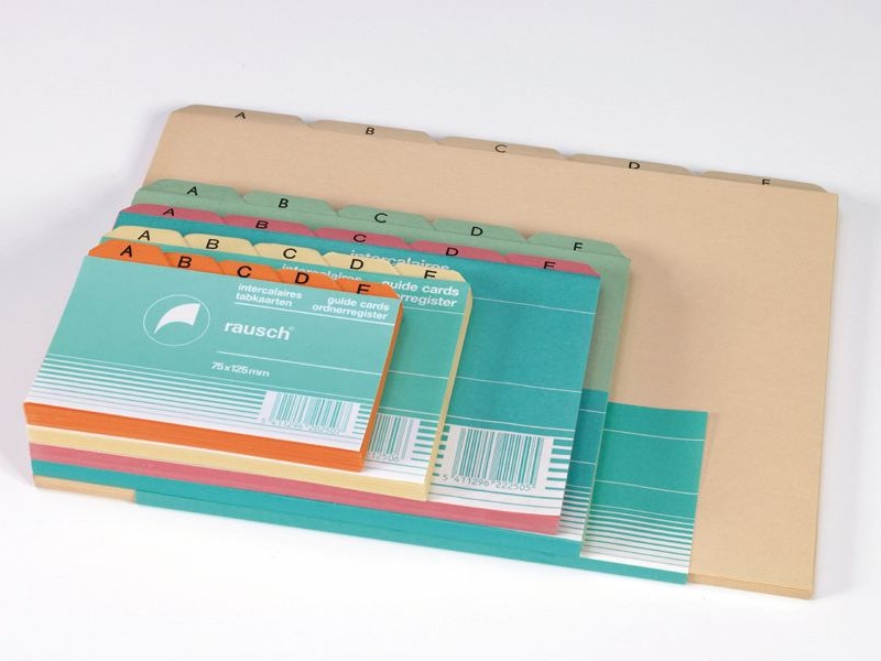DIVIDERS FOR RECORD CARDS
